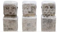 Steinfigur Naturstein weiss h 10 cm