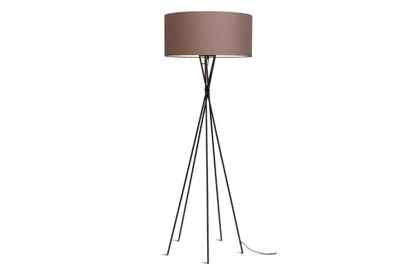 Stehlampe Lima schwarz sandbraun H 170