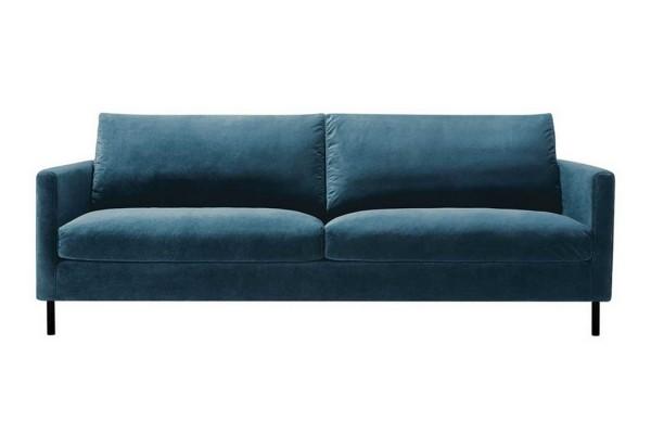 Sofa 3 Sitzer Impala Classic Samt dunkelblau