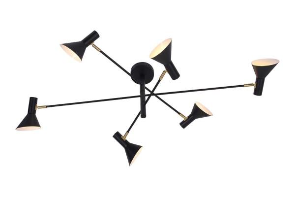 Deckenlampe Izmir Eisen schwarz