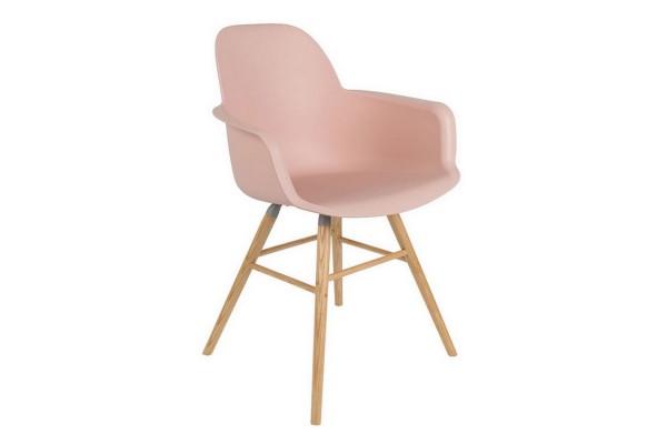 Armlehnstuhl Albert Kunststoff pastell rosa