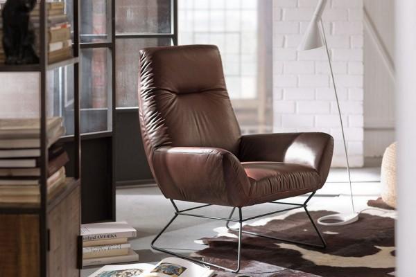 Lounge Sessel Leder braun
