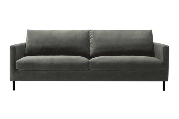 Sofa 3 Sitzer Impala Classic Samt grau