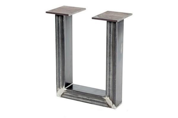 Tischgestell U-Form Roheisen 2er Set