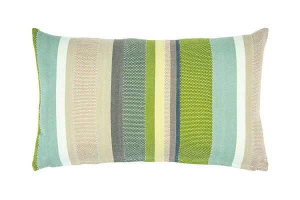 Pure Kissenhülle grün gestreift B 60 cm