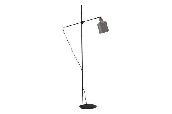 Stehlampe grau schwarz