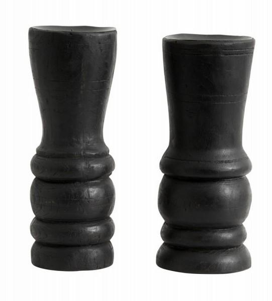 Kerzenhalter Vintage schwarz h 26,5 cm