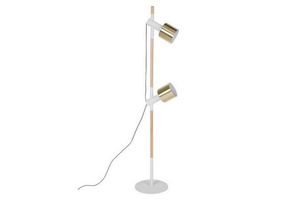 Stehlampe Modern Esche massiv natur weiss