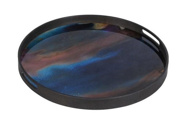 Notre Monde Tablett Indigo Organic D 48 cm