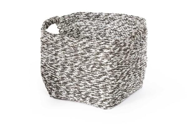Dekokorb grau silber mini