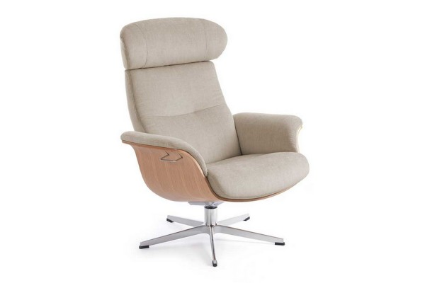 Drehsessel Timeout Stoff beige