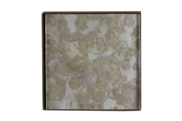 Notre Monde Tablett Fossil silber 16 cm