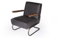 Lounge Leder Sessel Car 1940 schwarz