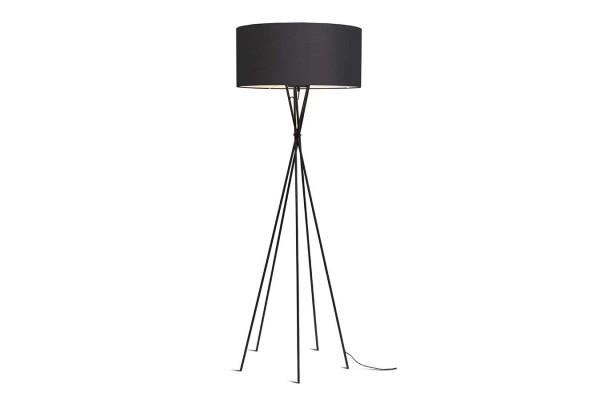 Stehlampe Lima schwarz dunkelgrau H 170