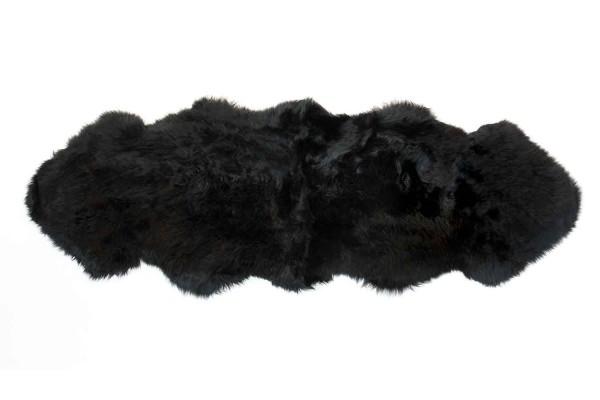 Doppelfell schwarz B 180-190 cm