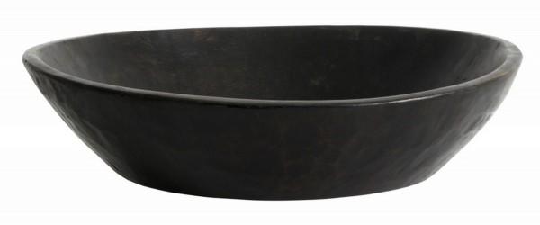 Holzschale Vintage Ø 40 cm schwarz