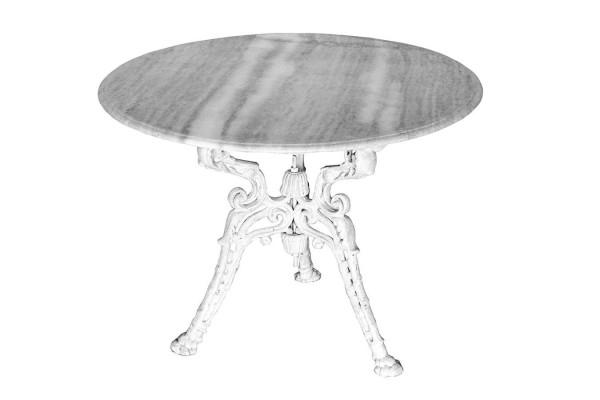 Tisch Vintage rund weiß