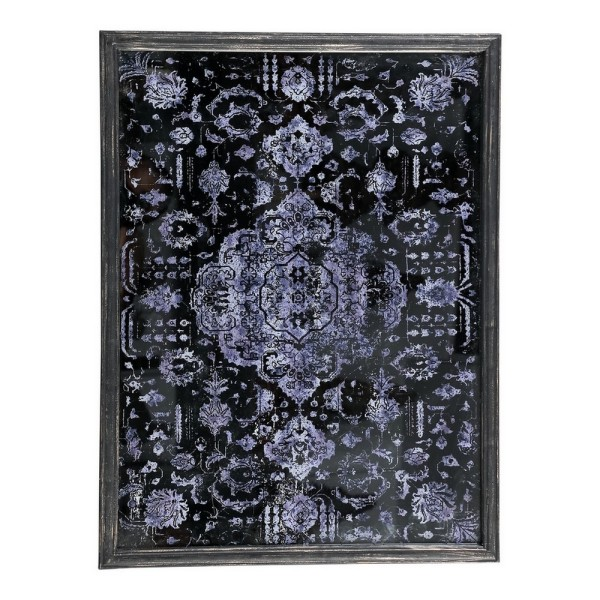 Spiegelbild Print lila H 80,5 cm