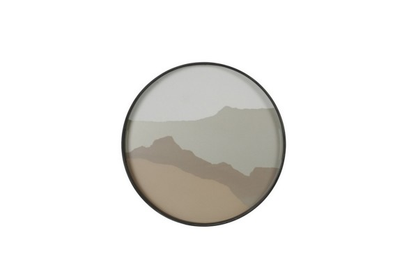 Notre Monde Tablett Sand Wabi Sabi D 48 cm