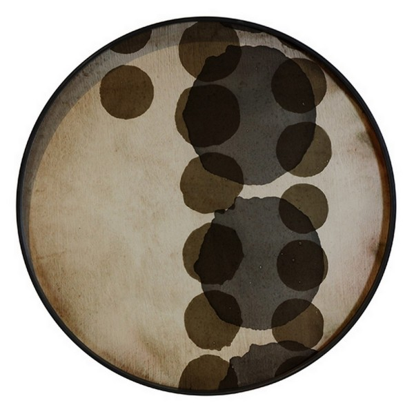 Notre Monde Tablett Slate Layered Dots D 61 cm