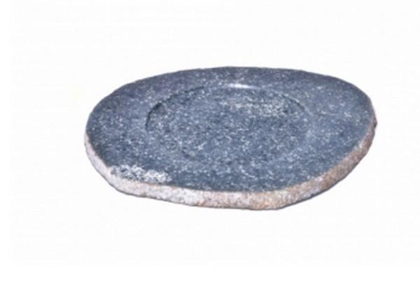 Platzteller Flussstein steingrau S