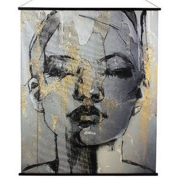 Wandbild abstrakte Frau H 170 cm