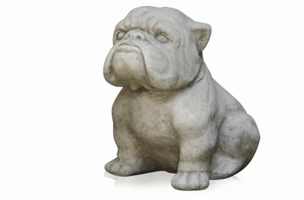 Dekofigur Bulldogge grau