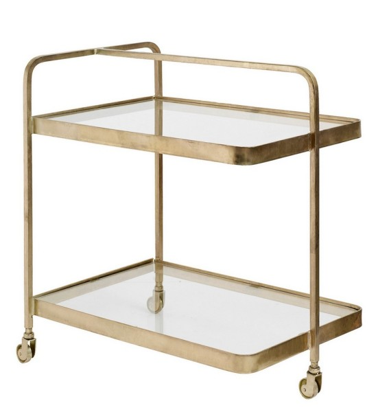 Beisteller Trolley Metall Bronze Glas 75_50_70 cm