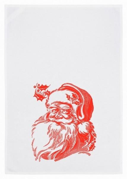 Geschirrtuch Weihnachtsmann rot