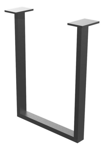 Tischgestell U-Profil fein schwarz