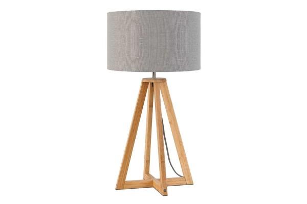 Tischlampe Everest Bambus natur hellgrau H 59