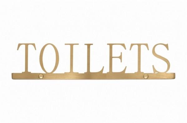 Schild Toilets gold