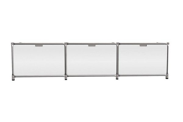 Sideboard System 180 matt MDF weiß 219_52,5_46 cm