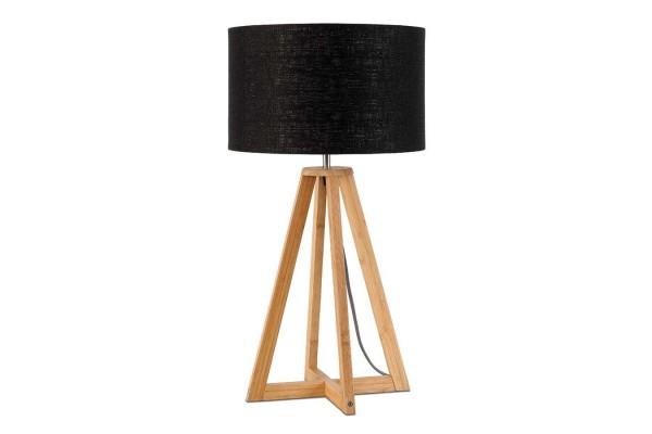Tischlampe Everest Bambus natur schwarz H 59