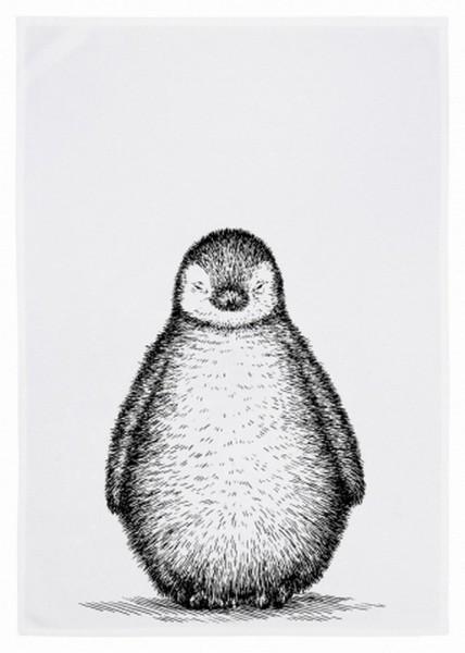 Geschirrtuch Pinguin grau