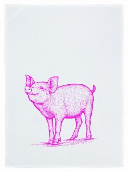 Geschirrtuch Schweinchen rosa