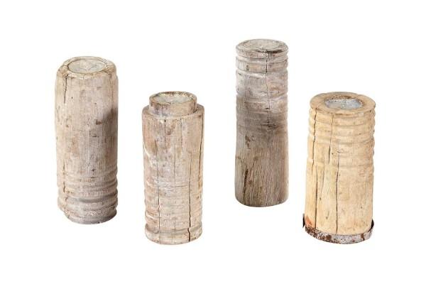 Kerzenständer Holz Vintage natur