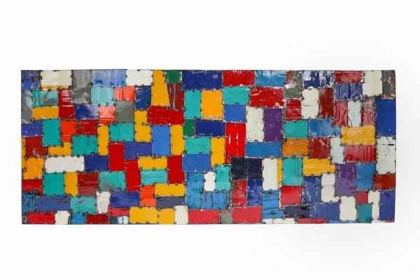 Wandbild Mosaikoptik 200_80cm