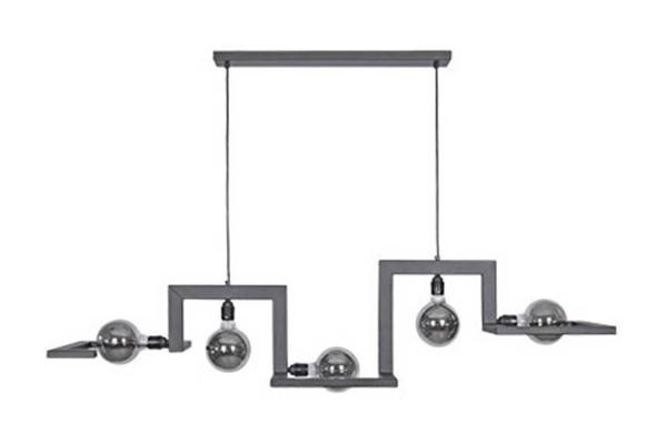 Hängeleuchte Tortona Stahl schwarz B 150 cm