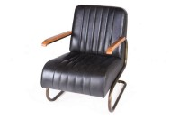 Lounge Sessel Car 1930 Leder schwarz