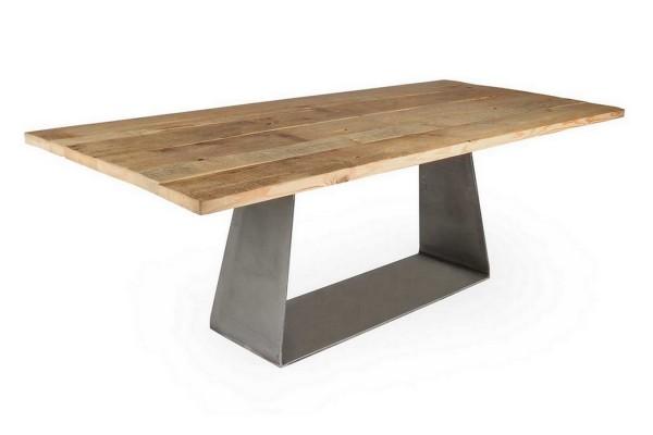 Esstisch Pine Alt Kiefer Stahlfuss 220_100 cm