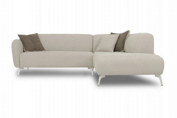 Sofakombination Stoff beige b 285 cm