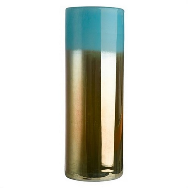 Bodenvase blau gold H 50 cm