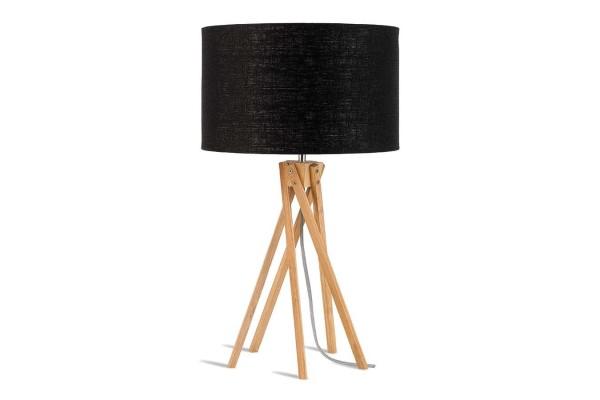 Tischlampe Kilimanjaro Bambus Textil schwarz