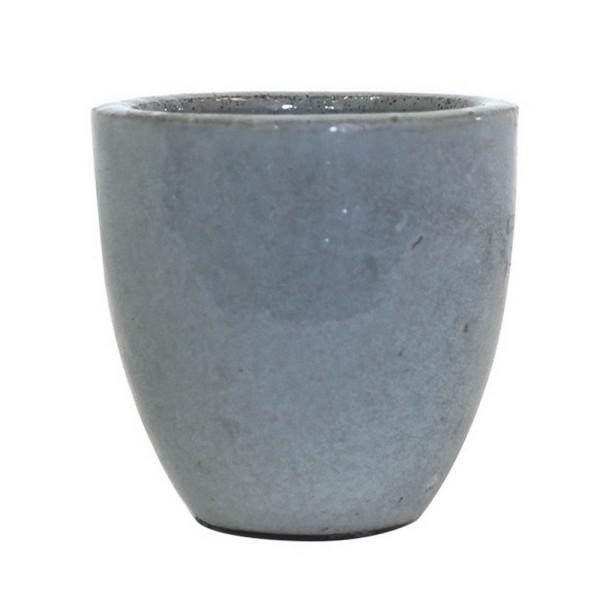 Übertopf Steingut hellblau Ø 14 cm