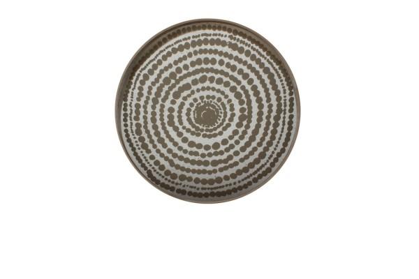 Notre Monde Tablett rund gold silber D 61 cm