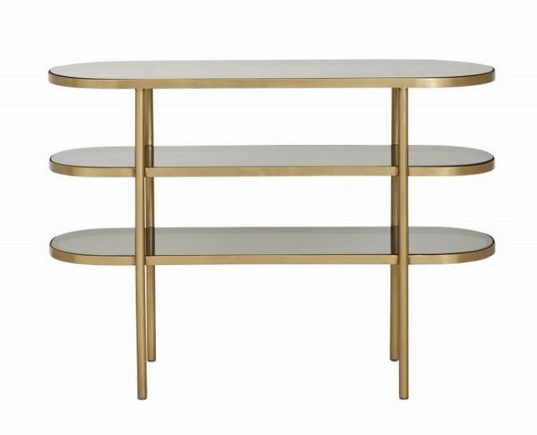 Konsole Art Deco oval gold_schwarz b 116 cm